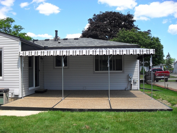 Awning Repairs Madison Heights MI - ROBA - backyard-awnings